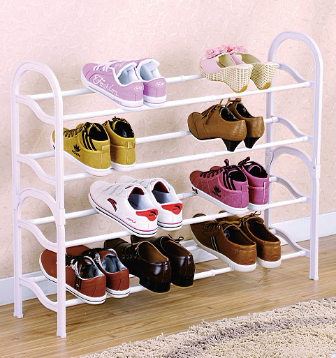 03-074  Extendable 4-layer adjustable height shoe rack