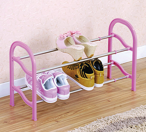 HW03-075    Extendable 2-layer shoe rack